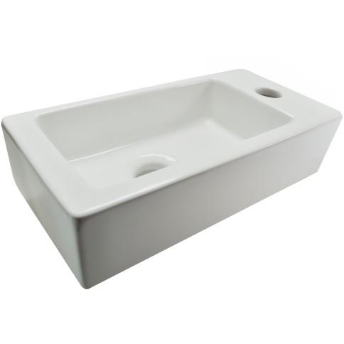 SANITAIR 05071 - Mini-Rhea rechts fontein 360x180x90 wit